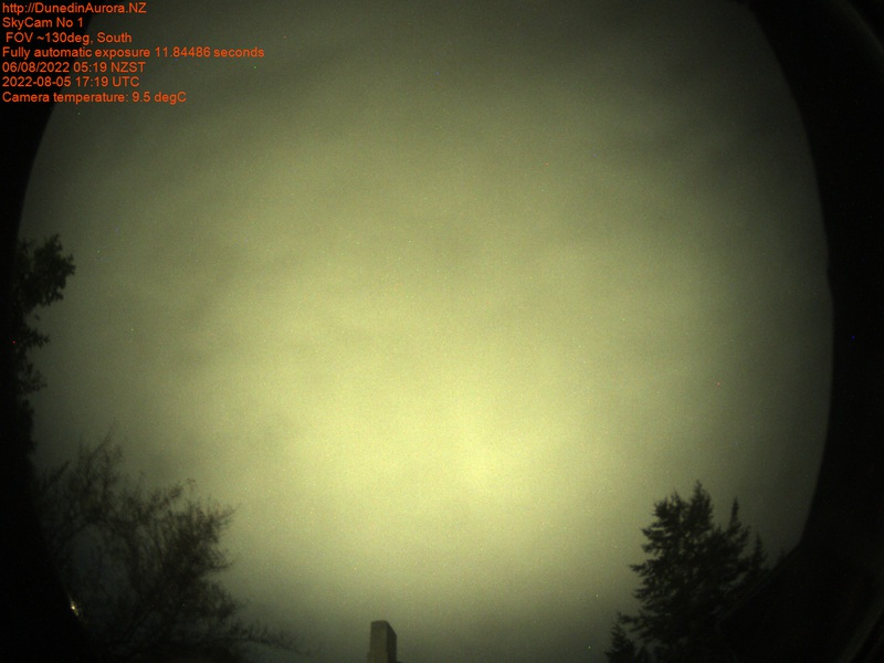 All-sky camera, DunedinAurora.NZ